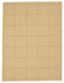 Checked Flatweave Beige