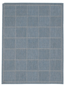 Checked Flatweave Blue