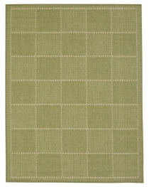 Checked Flatweave Green